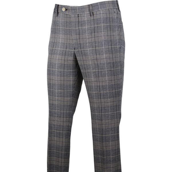 (商品特徴)素材:コットン87%/リネン13%・【着用シーズン:春夏】グレー&ブラック&ベージュ×チェックの0タックパンツです。膝から裾口にかけて細くなるテーパードパンツ。フロントポケットを少し斜めにする事で手の入りを良くしています。スーツセレクトは生産からデザイン、流通まで徹底し高品質な商品を明快な価格設定とバリエーションから選ぶ事ができ、ファッションとファンクション(機能性)を融合させ都会的に洗練されたパンツです。 ※季節表示は着用時期・実店舗での販売時期の目安です。「生地感」「生地の厚さ/薄さ」「素材感」等は商品により異なります。ファッション的視点で従来の季節に使う素材と異なる場合や、秋冬物でも背抜き仕様の商品もございます。【パンツのお手入れ方法】(1)型崩れを防ぐ為に、着用後はポケットの中身を全部出し、クリース(折り目)を合わせてハンガーに掛けましょう。(2)軽くブラッシングを行い、シワのある部分には軽く霧吹きで水分を与えると次回着用時のお手入れが簡単になります。※使用後のお風呂場にハンガーに掛けて置くこともシワ回復には効果的です。(3)連続着用はパン...