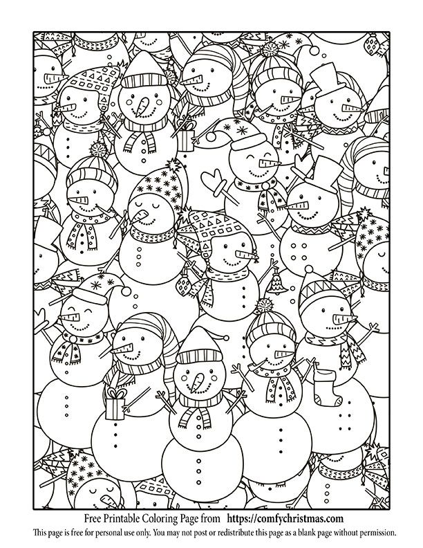 Free Printable Christmas Coloring Pages Snowmen Ideas Rhpinterest: Free Printable Coloring Pages For Adults No Download At Baymontmadison.com