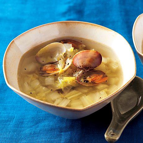 白菜とあさりのスープ | 吉田勝彦さんのスープの料理レシピ | プロの簡単料理レシピはレタスクラブニュース
