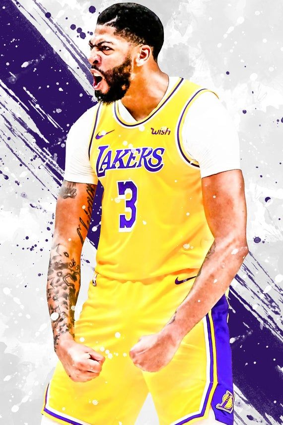 Anthony Davis Los Angeles Lakers Poster Print Sports Art Etsy In 2020 Anthony Davis Los Angeles Lakers Poster Los Angeles Lakers