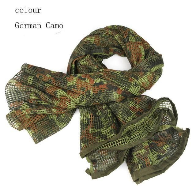 Tactical Mesh Net Camo Scarf Military Hunting Wrap Conceal Camouflage Sniper Q
