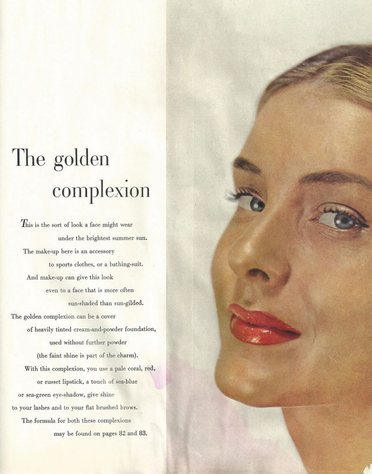 Makeup advice for a golden complexion from a 1947 edition of Vogue ...
