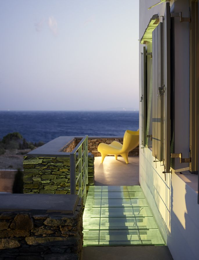 Vacation House by Zoumboulakis Architects in Tinos, Greece. Photo by Vangelis Paterakis. Greek, Aegean, Cycladic island architecture.