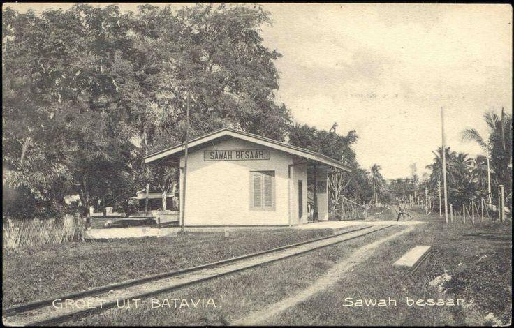 Sawah Besar Jakarta, vintage photo.