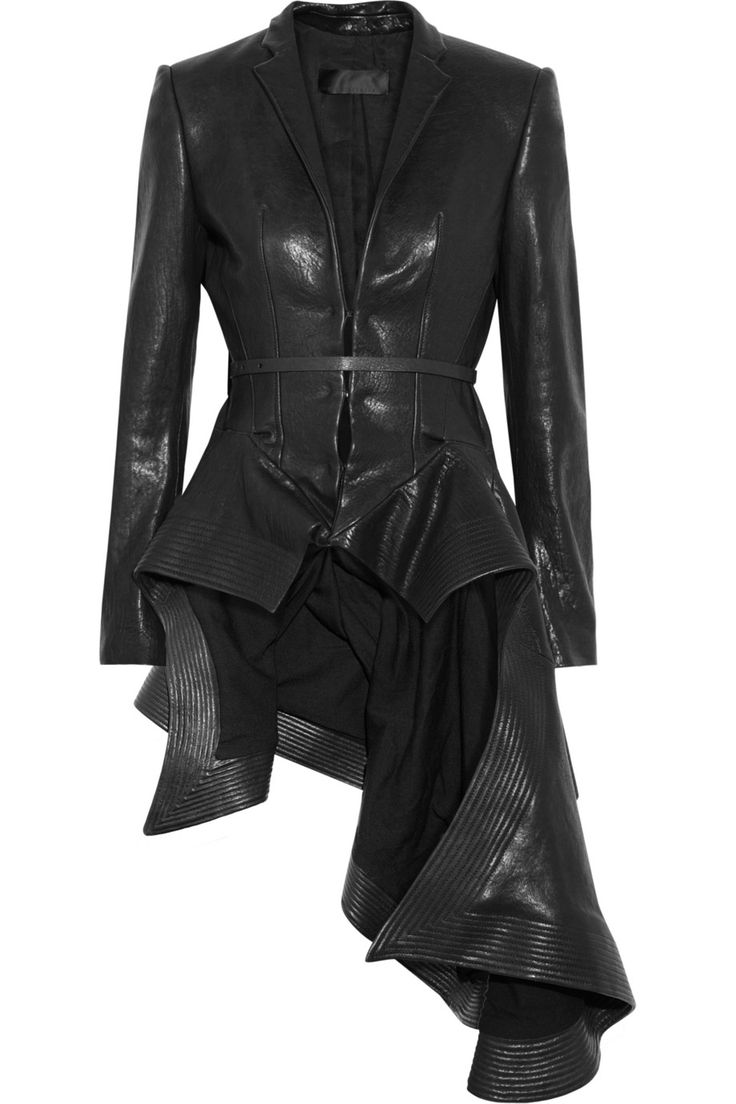 Haider Ackermann Origami Leather Jacket in Black