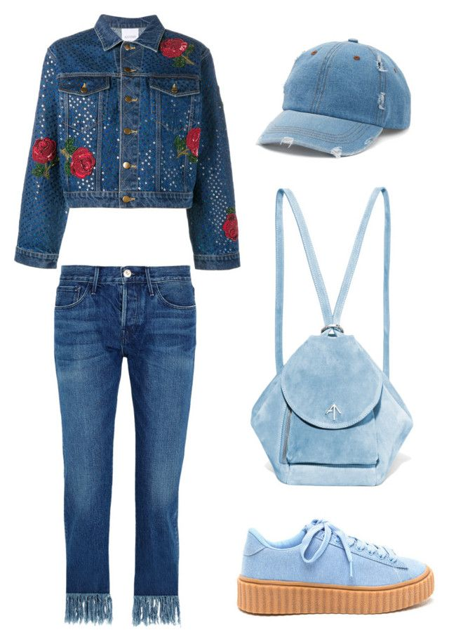 """blue casual"" by meysiskatikha on Polyvore featuring Ashish, 3x1, MANU Atelier and Mudd"