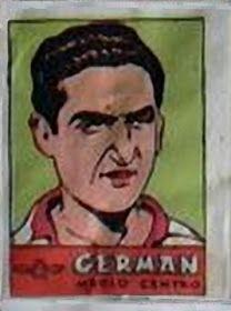 Germán. Atlético de Madrid. 1941-42. Cromos Bruguera. Medio centro titular.