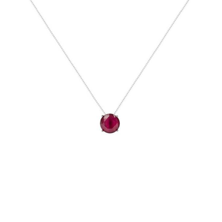 Colar com pingente redondo de cristal vermelho rubi folheado a ródioPossui extensor de 5 cm.Dimensões aproximadas:Comprimento da corrente: 45 cmComprimento do pingente: 1,0 cmLargura do pingente: 1,0 cmEspessura do pingente: 0,5 cm