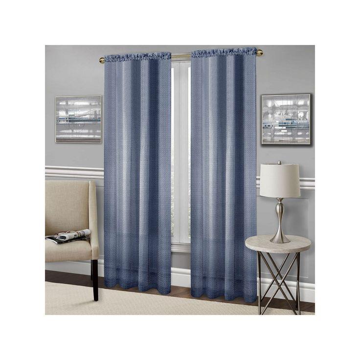 Achim Richmond Light Filtering Curtain, Blue