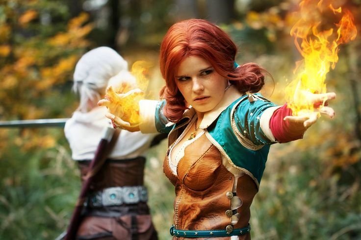 Me (Juriet) my friend (Lass) cosplaying as Ciri and Triss #TheWitcher3 #PS4 #WILDHUNT #PS4share #games #gaming #TheWitcher #TheWitcher3WildHunt