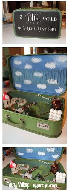 A Fairy Village in a Suitcase - FREE TUTORIAL!