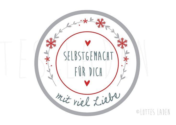 24 Aufkleber ''Selbstgemacht'' Sticker Handmade von Lottes Laden auf DaWanda.com