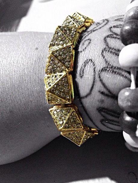 studded rhinestone bracelet