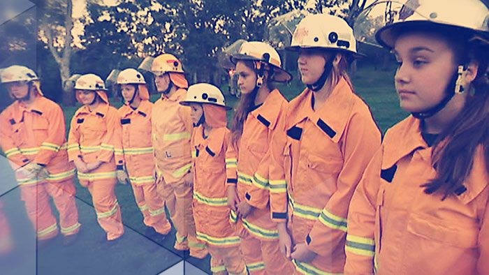 As summer approaches, bushfires become a big risk in many areas of Australia. And for the people who live in those areas, often their only form of protection comes from volunteer fire fighters. But how do you get to become one? Well some young kids are already in training. We sent Matt to meet them.