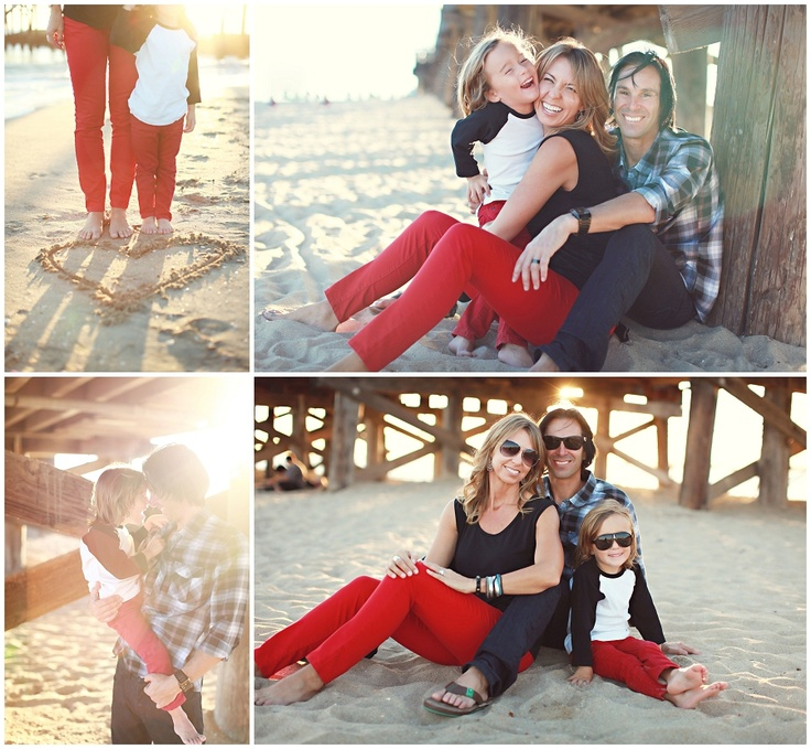 Beach Family Portraits  Angela Mae Photography  What-to-wear, hip and young, maybe Christmastime