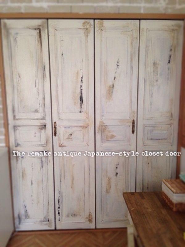 Rei さんの作品 和室クローゼットの扉をリメイク セルフ