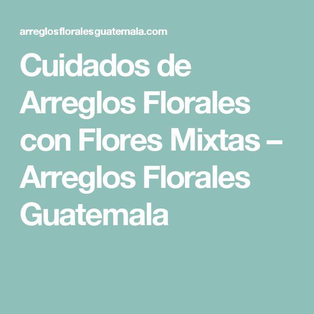 Cuidados de Arreglos Florales con Flores Mixtas – Arreglos Florales Guatemala