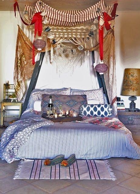 EV DEKORASYON HOBİ: Fas stili yatak odaları