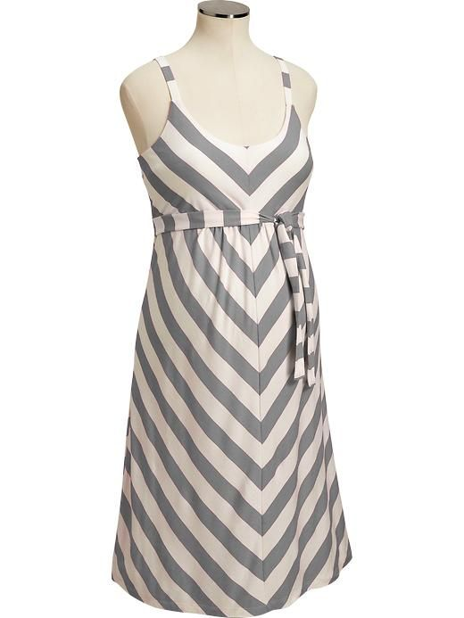 Old Navy | Maternity Chevron-Stripe Tank Dresses