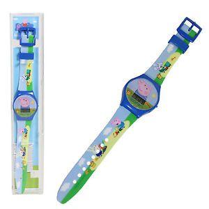 Children-039-s-Digital-Sports-watch-Peppa-Pig-Pink-Blue-Yellow-Christmas-Gift