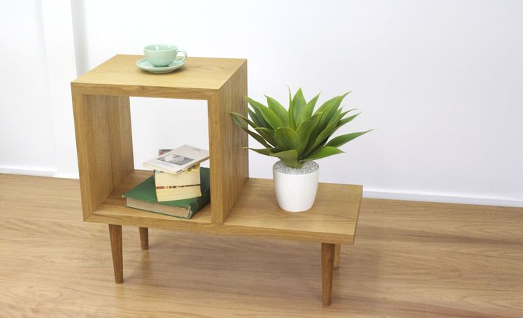 Miter Sidetable - Designed to sit aside any sofa (made to size and choice of timber) www.cdrfurniture.com
