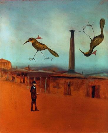 SIDNEY NOLAN Feeding the Birds (1948)