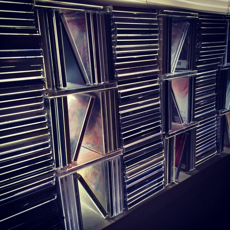 Had over 400 CDs and decided to reuse instead of recycle. So we created this mini wall at our window