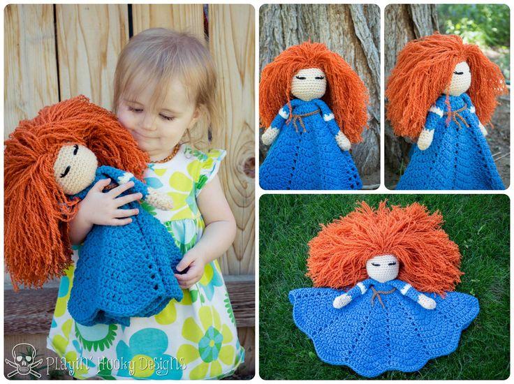 Designer Crochet Amigurumi Patterns Merida Warrior Princess : Crochet Brave Merida Lovey - I personally wouldnt dream ...