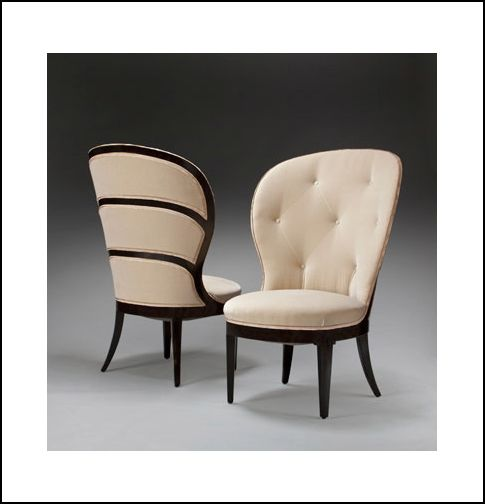 A pair of swedish grace period ebonized and upholstered for Mobilia utrechtsestraat 62 64