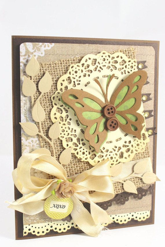 OOAK CARD, Handmade Card, Butterfly Card, XOXO Card, Amy Occasion card, Greeting Card