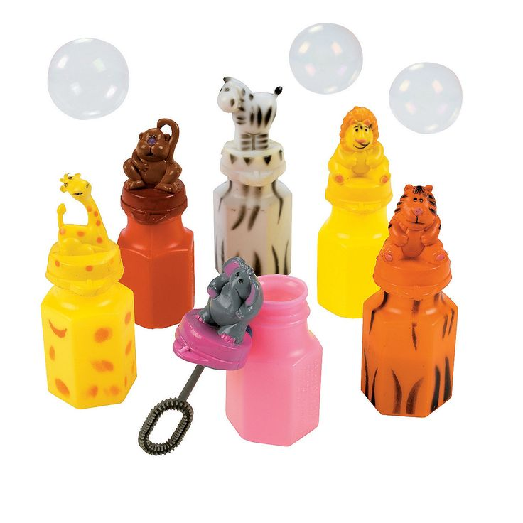 Party Favors  Zoo Animal Character Bubble Bottles - OrientalTrading.com