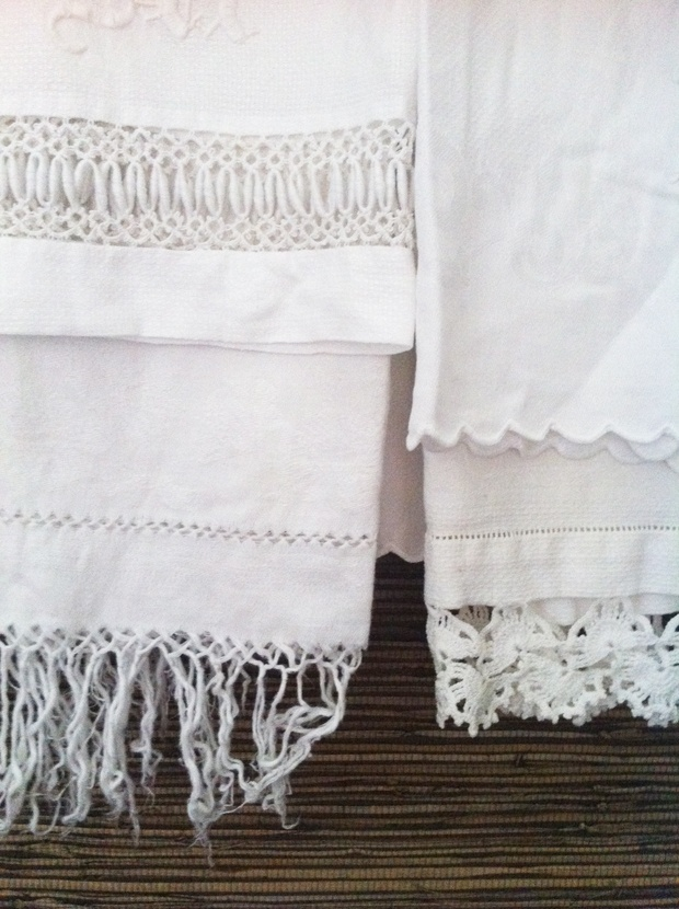 layered, vintage hand-towelsLayeredtowels2Jpg 620830, Lace, Antique Linens, Embroidered Linens, 620830 Pixel, Designed Towels, Colonial Style, Antiques Linens, Linens Closets