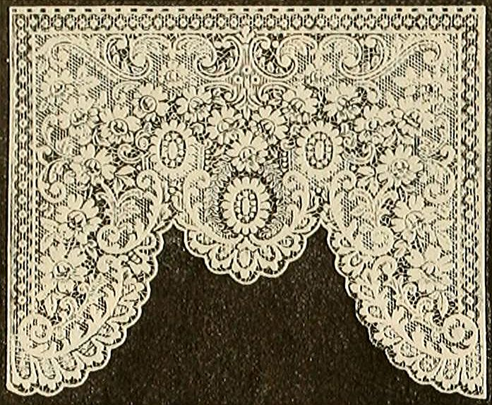Printable - Edwardian Lambrequin Lace Window Drape