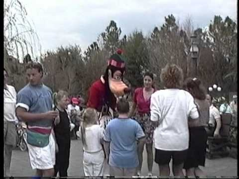 Canadian Goofy Greets Guests at Epcot Center Jan 1991 World Showcase, Canada Pavilion, Disney World