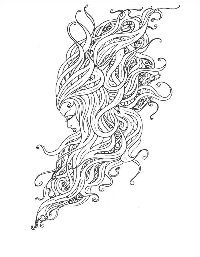 Mermaid Hair Coloring Pages Pictures