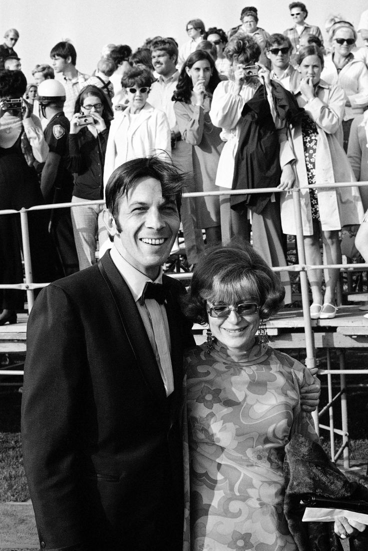Leonard Nimoy and his first wife Sandra Zober at the Emmy Awards in Santa Monica, 1969