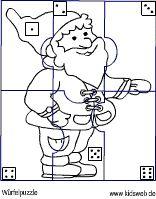 Würfelpuzzle-Weihnachtswichtel
