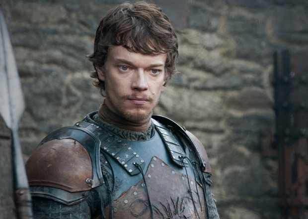 Theon Greyjoy.  He is the son and heir apparent of Lord, later King, Balon Greyjoy. At the end of the Greyjoy Rebellion, Theon was taken as a hostage and ward to Eddard (Ned) Stark.  (http://gameofthrones.wikia.com/wiki/Theon_Greyjoy)