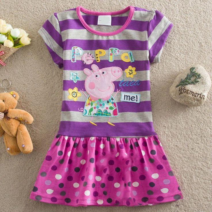 vestido infantil, transado, roupas transadas, roupa infantil, VESTIDO PEPPA PIG