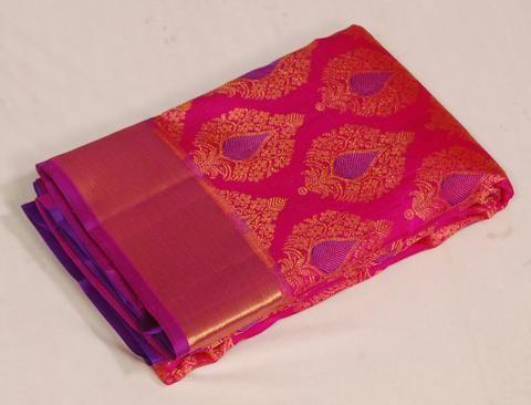 Artistic+buttis+Traditional+Kanjeevaram+Silk+Saree