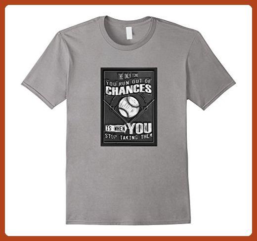 Mens Inspirational Baseball Playoffs T-Shirt about Not Giving Up 2XL Slate - Sports shirts (*Partner-Link)