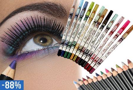 Maak een goede eerste indruk en laat je ogen spreken. nu slechts €5,95 #vouchervandaag #oogpotloden #12kleuren