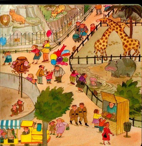 Dierentuin, praatplaat voor kleuters / zoo 2
