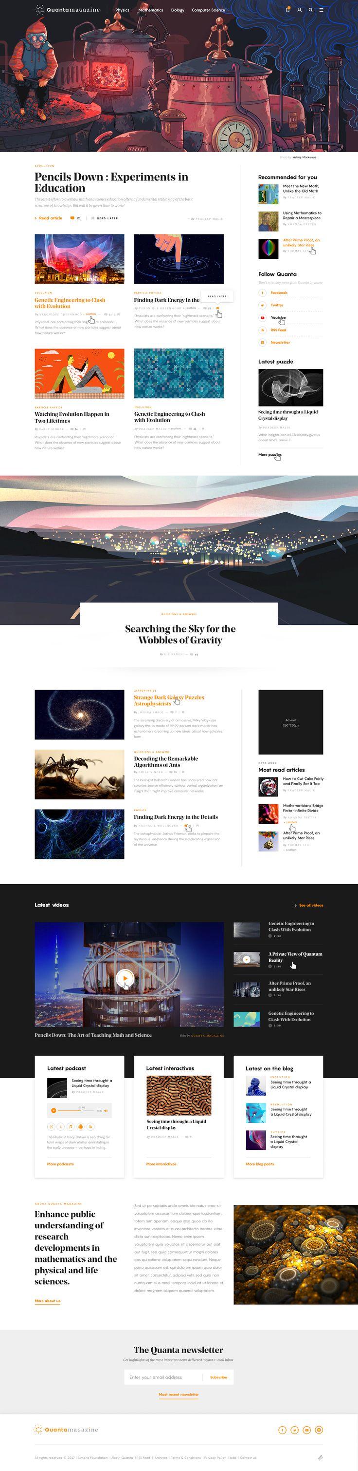 Quanta homepage by dogstudio full size