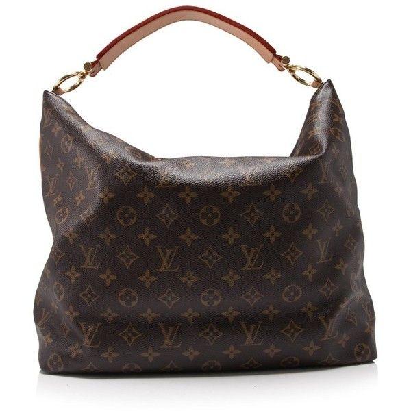 louis vuitton shoulder bag. pre-owned louis vuitton monogram shoulder bag ($1,080) ❤ liked on polyvore featuring bags, handbags, brown, bag,