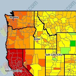 USA National Gas Price Heat Map