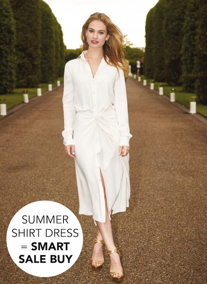 The Summer Sale Shirt Dress Edit. Lily James in Ralph Lauren - Coco's Tea Party