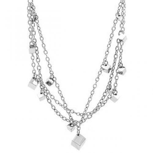 Cube around necklace Silver - One Size