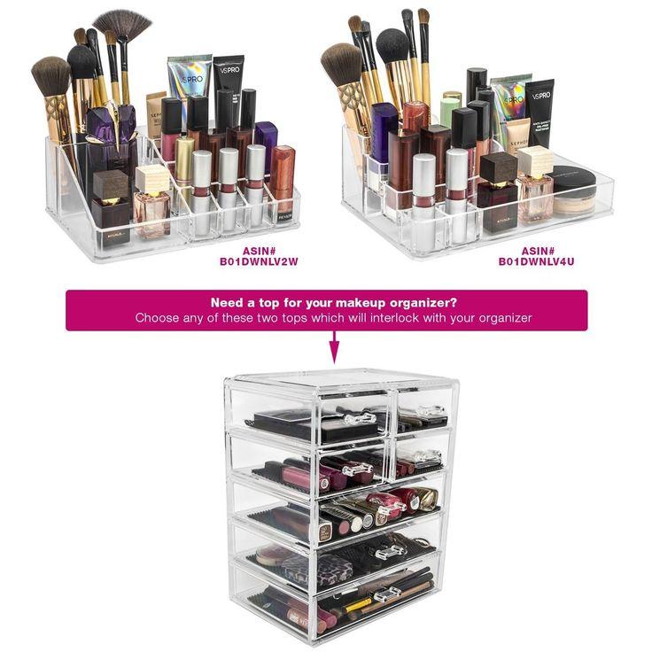 Website Photo Gallery Examples Amazon Sorbus Acrylic Makeup Cosmetics and Jewelry Organizer Home u Kitchen