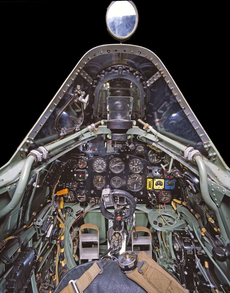 06-cockpit-avion-Supermarine-Spitfire-Mk-VII - La boite verte